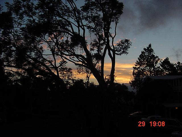 Sunset in Kamuela, upcountry on Big Island of Hawai'i