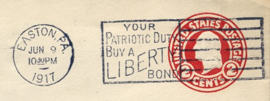 Liberty Bond Slogan Cancel
