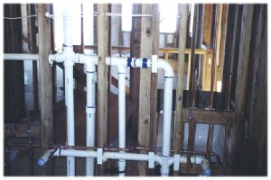 [25 August: Rough plumbing installation...]
