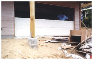 [23 September: The garage door gets installed!]