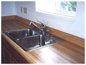 [26 September: Finish plumbing includes everything including, dare we say it, the kitchen sink, AND...]
