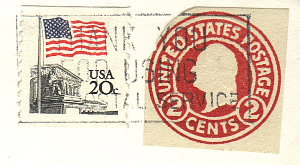 postal stationionery cutout