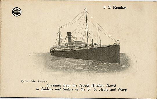 JWB Card of SS Rijndam