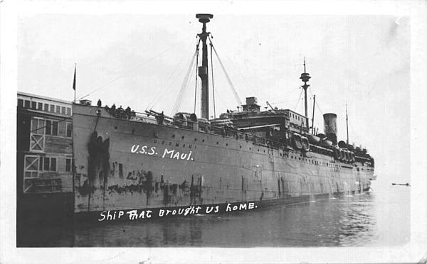[U.S.S. Maui, First World War Troopship]