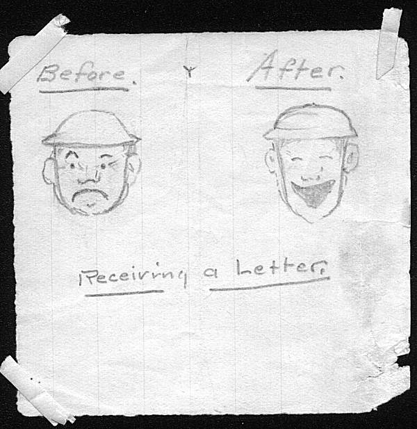 [Hand-Drawn Cartoon from U. S. Soldier in WW I <!-- updated Thu 23 Jul 2020 11:21:15 AM CDT comment only first line -->]