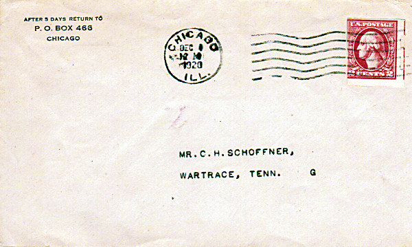[Privately Perforated (Shermack) Washington-Head Stamp on Cover]