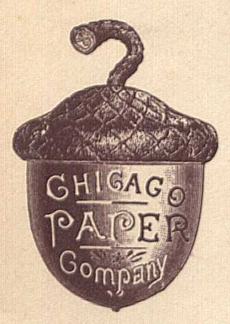 [Acorn-Shaped Logo from Late 19th Century Advertising Cover]