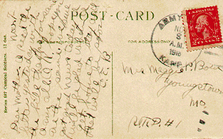 [Postcard Cancelled at Army City, Kansas in 1918]