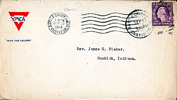 [Typical YMCA Envelope Given to Troops]