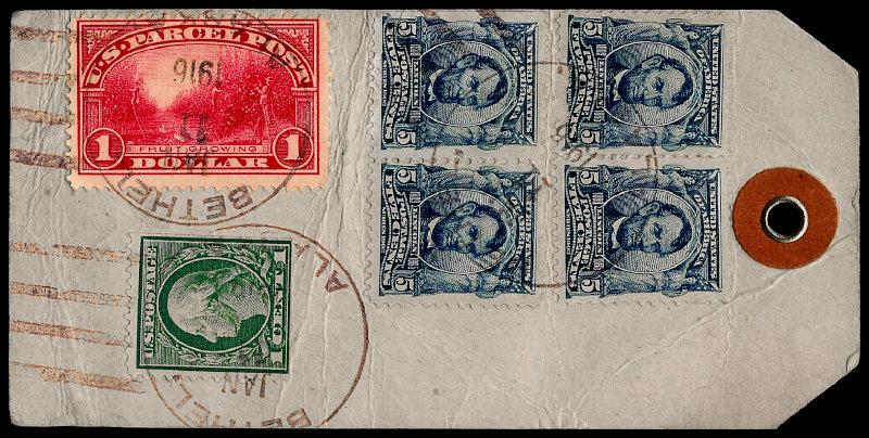 [Dollar Parcel Post Stamp on Parcel Tag]