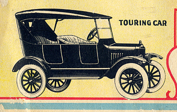 [Detail of Advertisement for a Ford Model T ]