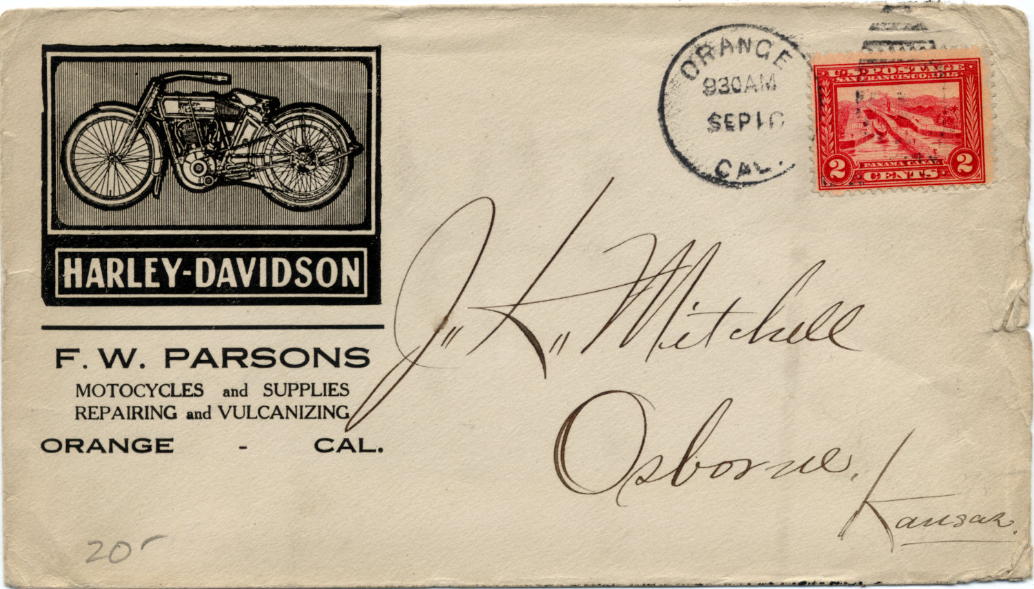 [Nice Illustrated Cover from a Harley-Davidson Motorcycle Dealer]