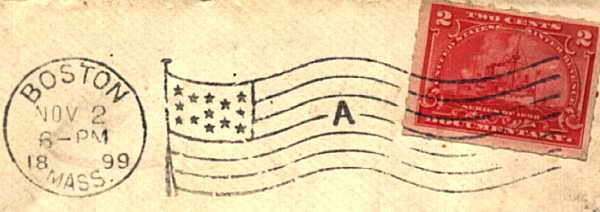 [Revenue Stamp Illegally Used for Postage]