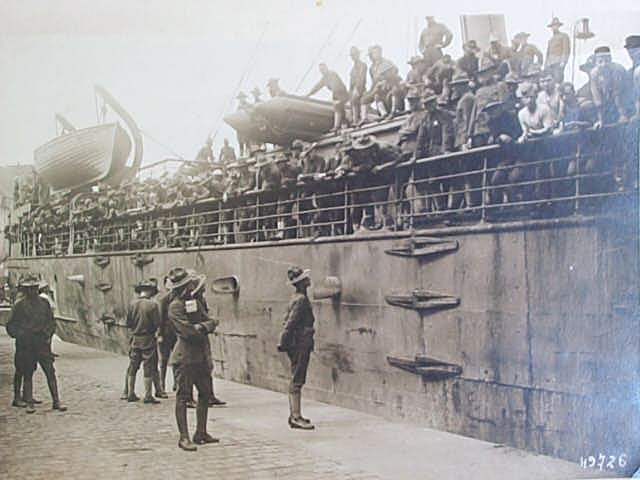 troopship and army men wwi