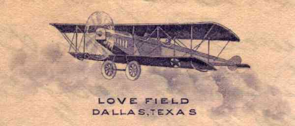 [Airplane-Themed Stationery from Love Field, Texas]