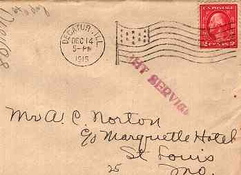 night service marking on mail