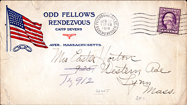 odd fellows cover from first world war