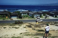 [May 2, 1999: The view from our homesite; located one block from our current rental.]