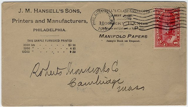 [Correct Usage for a Parcel Post Stamp]