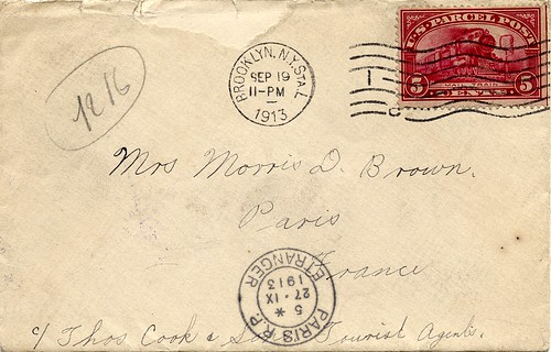 postal history item showing use of the Parcel Post stamp of the U.S.
