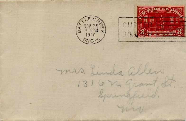 [Parcel Post Stamp Used in First World War Era <!-- updated Sat 25 Jul 2020 02:32:55 PM CDT comment only first line -->]