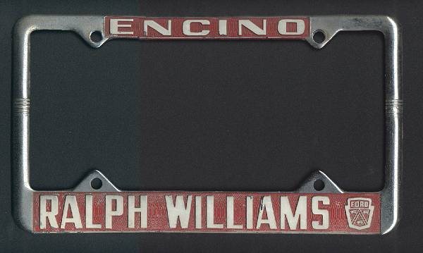 [Ralph Williams Ford License Plate Frame]
