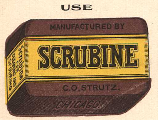 old advertising for scrubine soap