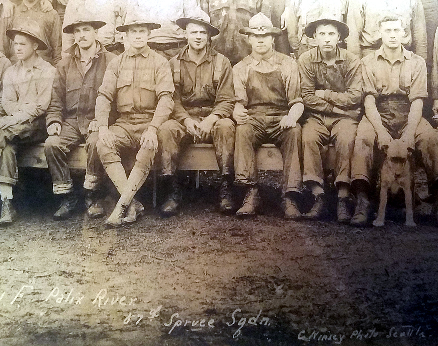 details of photo of 57th spruce squadron
