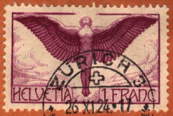[Swiss Airmail Stamp]