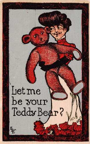 [Early Teddy Bear Postcard]