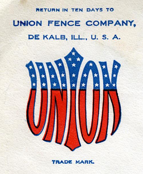 [Union Fence Logo on Cornercard]