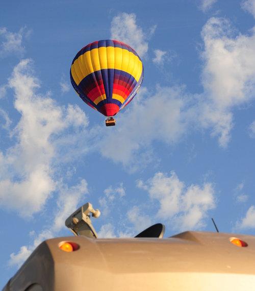[Hot-Air Balloon and Motorhome]