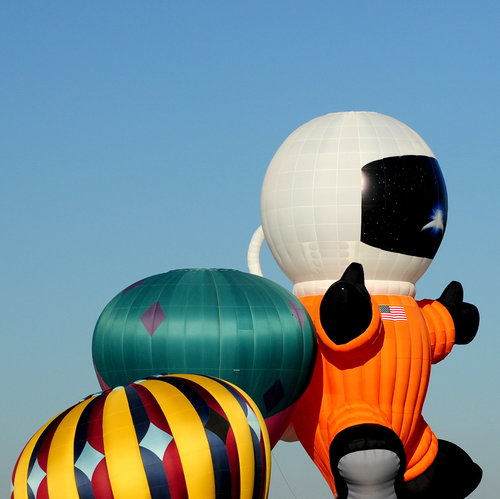 [Hot-Air Balloons, Including 'Space Man' Special Shape]