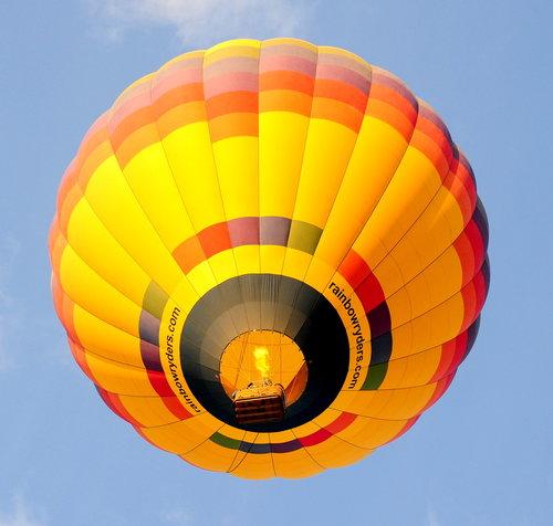 [Hot-Air Balloon Directly Overhead]