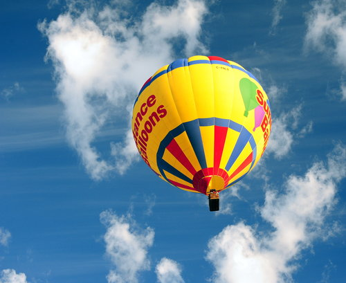 [Hot-Air Balloon and Blue, Blue Sky]