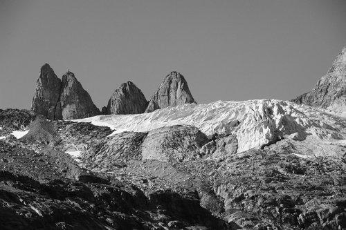 [Hanging Glacier, Prince Christian Sound (BW)] style=