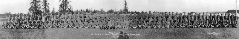 [Group Photo of the 28th Spruce Squadron]