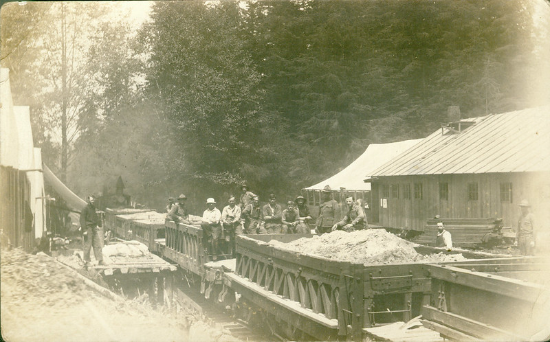 [Photo of Railroad Operations of the 69th Spruce Squadron]