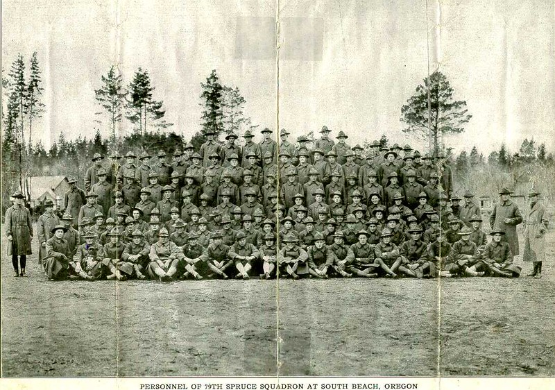 [Book Illustration of a Group of the 79th Spruce Squadron]