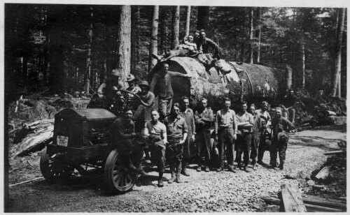 [Spruce Soldiers with Logging Truck]