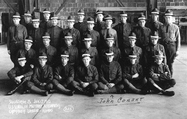 [Photo of Students at Ground School, Urbana, Illinois]