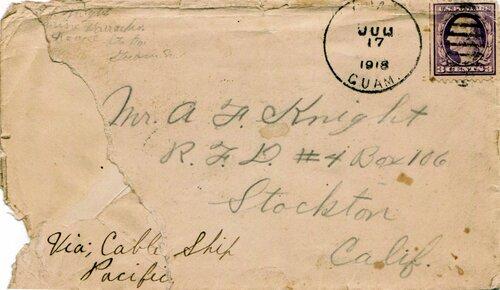 [First World War Mail from Guam]