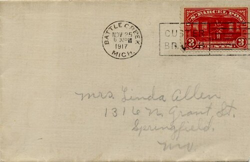 [New Three Cent Rate Supplied by Parcel Post Stamp]