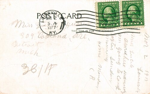 [Postcard Cancelled on the First Day of the War Rate]