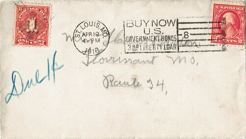 [Postage Due, Addressee Not Local]