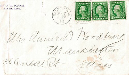 [Use of 'Old' Stamp, Contents: Dental Bill (Scott #462)]