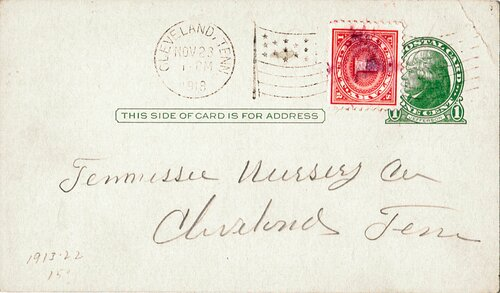 [Revenue Stamp Used as Postage Due on Postal Card]