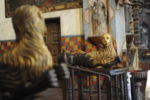 [Interior with Religious Statues] style=